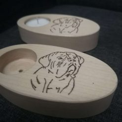 Bull mastiff, dogue de bordeaux tealight candle holder