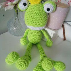 Handmade crochet frog prince