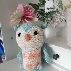 Handmade crochet baby owl toy