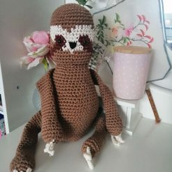 Handmade crochet sloth