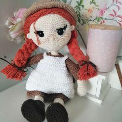 Handmade crochet Anne of Green Gables doll