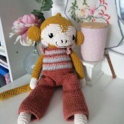 Handmade crochet retro monkey