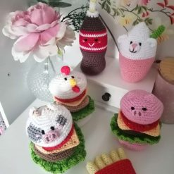 Handmade crochet cute play food