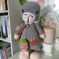 Handmade crochet large cat