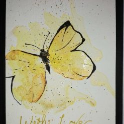 Hand painted Greetings card Butterfly