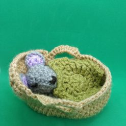 Crochet Bunny or Mouse in a Baby Blanket with Leaf Blanket. Free UK Delivery.