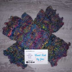 Ladies Hand Spun, Hand Knitted Fingerless Gloves with Picot Edging
