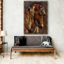Native American Art Print of War Horse. First Nations, painted horse, horse art, wall art, home décor. From £30 with free shipping.