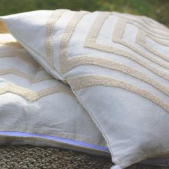 Tufted Cushion Cover Cream Pattern (set of 2) 60cm x 60cm