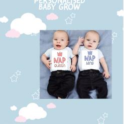 Nap King or Nap Queen Baby Grows