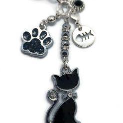 Black Cat Bag Charm