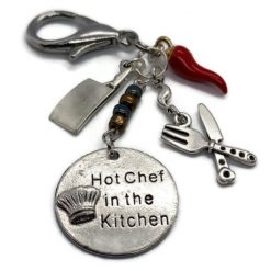Hot Chef in the Kitchen Keyring