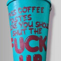 Profanity reusable travel mug