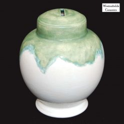 Ceramic Save and Smash Money Savings Pot Box Bank Hand Glazed Old Copper