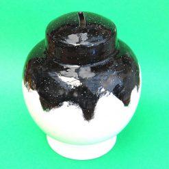 Ceramic Save and Smash Money Savings Pot Box Bank Hand Glazed Starlight