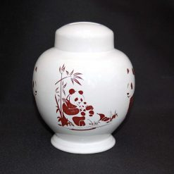 Ceramic Save and Smash Money Savings Pot Box Bank Panda Pandas Pattern