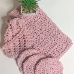 Luxury Cotton Blend Spa Set Mink Pink