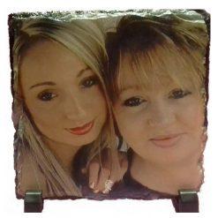 Square Personalised Photo Slate 20 x 20 cm