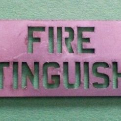 Stainless Steel Fire Extinguisher Below Metal Sign Plate,  H&S,  Bus,  Coach, Ship, Van