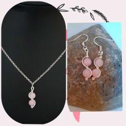 Rose Quartz Wave Jewellery Set