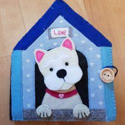 Handmade Felt Dog Kennel Needlebook