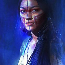 Native American Art Print or Canvas Wrap. Native American Girl. First Nations, Beautiful Woman, Warrior Woman, wall art, home décor. Prices start from £30 including free worldwide postage!