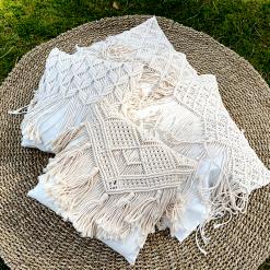 Macrame Cushion Cover  Boho (Set of 2)