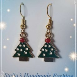 Alloy Enamel Christmas Tree Earrings