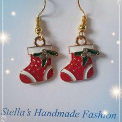 Christmas Socks Alloy Enamel Earrings