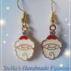 Father Christmas Alloy Enamel Earrings
