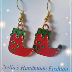 Christmas Boots Alloy Enamel Earrings