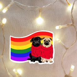 Pug Dog Sticker | Dog Illustration | Dog Themed Gift | Fun Stickers