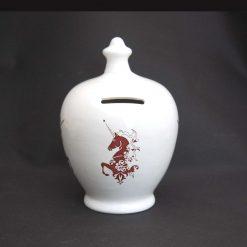 Ceramic Save and Smash Money Savings Pot Box Bank Unicorn Pattern