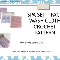 Luxury Spa Set Wash Cloth Face Cloth Crochet PDF Pattern