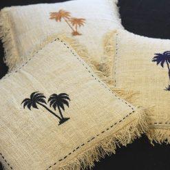 Sets of 3 Tropical Palm Tree Cushion Cover 40cmx40cm
