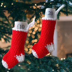 Mini Christmas stocking set of 2