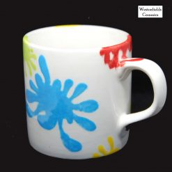 Ceramic Splat Collection Straight Sided Mug Hand Painted Pottery