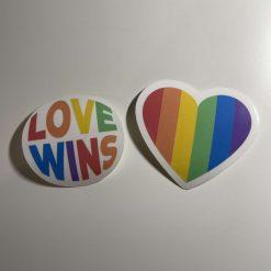 Love Wins stickers x 2