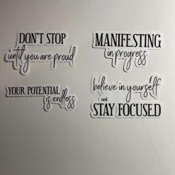 Positivity Stickers x 4