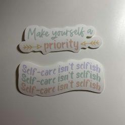 Mental Health Stickers x 2